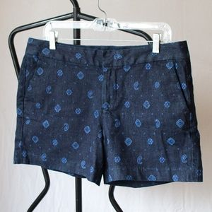 NWT Tommy Hilfiger Paisley Stretch Jean Shorts 10